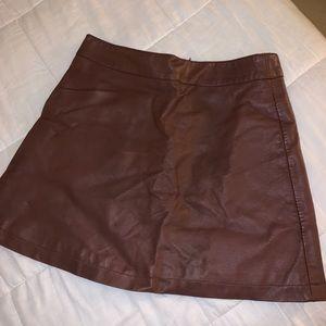 Forever 21 Brown Leather Mini Skirt